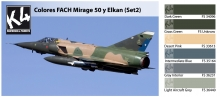 K4 COLORES FACH MIRAGE 50 Y ELKAN SET 2