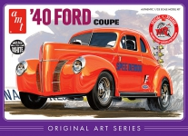 AMT 850 1:25 1940 FORD COUPE ORIGINAL ART