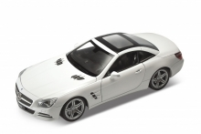 WELLY 24041 2012 MERCEDES BENZ SL500 HARD TOP, WHITE 1:24