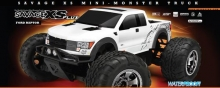 HPI 115125 SAVAGE XS FLUX WITH FORD RAPTOR BODY
