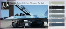 K4 AGGRESSOR COLORS SET 2 (NAVY ADVERSARY - TOP GUN)