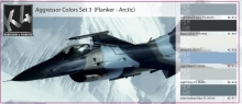 K4 AGGRESSOR COLORS SET 3 (FLANKER - ARTIC)