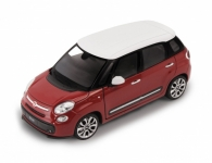 WELLY 24038R 2013 FIAT 500L, RED,YELLOW 1:24
