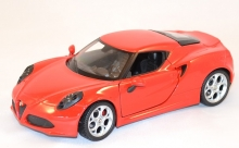 WELLY 24048 2013 ALFA ROMEO 4C, WHITE, RED 1:24