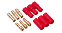 HYPERION HP-FG-CON35-SYM 3.5MM GOLD CONNECTORS (3 MALE + 3 FEMALE + 1 SET OF SYMMETRICAL INSULATOR)