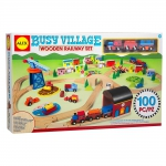 ALEX 1498 BUSY VILLAGE WOODEN RAILWAY