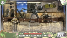 MCTOYS 77081 WORLD PEACEKEEPERS - MILITARY DEFENSE UNIT (3 FIGURES INCLUDED)