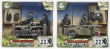 MCTOYS 77019 WORLD PEACEKEEPERS - PATROL VEHICLE - ATV DIRT BIKE