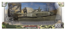 MCTOYS 77024 WORLD PEACEKEEPERS - COMBAT TANK (3 MILITARY FIGURES INCLUDED)