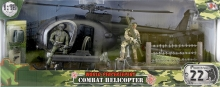 MCTOYS 77031 WORLD PEACEKEEPERS - COMBAT HELICOPTER (1 PILOT & 1 MILITARY FIGURE INCLUDED)