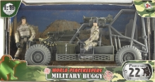 MCTOYS 77022 WORLD PEACEKEEPERS - MILITARY BUGGY (2 MILITARY FIGURE INCLUDED)