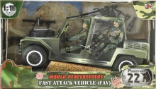 MCTOYS 77038 WORLD PEACEKEEPERS - FAST ATTACK VEHICLES (FAV) (2 MILITARY FIGURE INCLUDED)