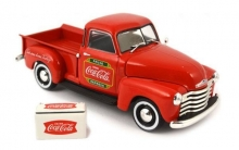 MOTORCITY 478104 1:43 CHEVY PICKUP WITH METAL COOLER 1953 COCA-COLA