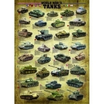 EUROGRAPHICS 6000-0388 TANKS OF WWII 1000-PIECE PUZZLE