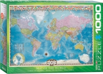 EUROGRAPHICS 6000-0557 MAP OF THE WORLD 1000-PIECE PUZZLE