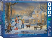 EUROGRAPHICS 6000-0607 SNOW CREATIONS 1000-PIECE PUZZLE