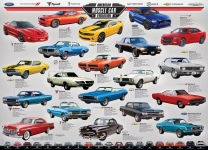 EUROGRAPHICS 6000-0682 MUSCLE CAR EVOLUTION 1000-PIECE PUZZLE