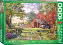 EUROGRAPHICS 6000-0715 EVENING AT THE BARNYARD BY DOMINIC DAVISON 1000-PIECE PUZZLE