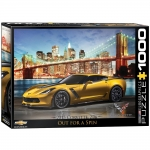 EUROGRAPHICS 6000-0735 2015 CHEVROLET CORVETTE Z06: OUT FOR A SPIN 1000-PIECE PUZZLE