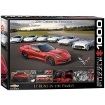 EUROGRAPHICS 6000-0736 2014 CORVETTE SINGRAY: IT RUNS IN THE FAMILY 1000-PIECE PUZZLE