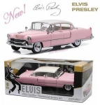 GREENLIGHT 12950 1:18 ELVIS PRESLEY (1935-77) - 1955 CADILLAC FLEETWOOD SERIES 60 PINK CADILLAC