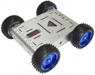 ZMXR 4 WD SMART CAR CHASSIS 15 KG BEARING (SILVER) ALUMINUM ALLOY CAR-BODY CROSS-COUNTRY ROBOT