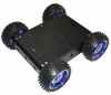 ZMXR 4 WD SMART CAR CHASSIS 15 KG BEARING (BLACK) ALUMINUM ALLOY CAR-BODY CROSS-COUNTRY ROBOT