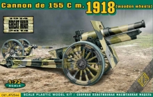 ACE 72544 US 155MM HOWITZER MODEL OF 1918 CAÑON 1:72