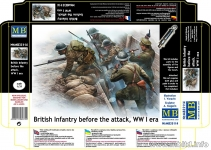 MB 35114 BRITISH INFANTRY BEFORE ATTACK WWI
