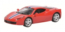 SHUCO 452613300 FERRARI 458 SPECIALE - RED W/RACING STRIPE 1:87