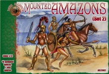ALLIANCE 72021 1:72 AMAZONS MOUNTED WOMEN WARRIORS SET -2 FIGURES (10 MTD, 2 FOOT)