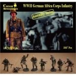 CAESAR 7713 1:72 WWII GERMAN AFRICA CORPS INFANTRY (16 MULTI-POSED FIGS) (KIT)