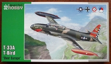 SPECIALHOBBY 32050 1:32 T 33 A T-BIRD AIRCRAFT OVER EUROPE