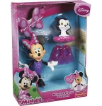 MATTEL Y1889 DISNEY MINNIE & FIGARO *BATH TIME* SET.