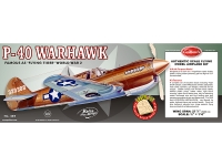 GUILLOW 405 P 40 WARHAWK RUBBER GAS