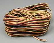 HITEC 57417 3 COLOR SERVO WIRE 50FT 15.24M