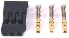 HITEC 54801J HOUSING AND GOLD PIN ONE SET FOR FUTABA