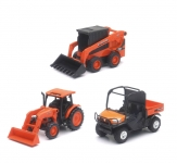 NEWRAY 33297 MINI DIE CAST KUBOTA VEHICLE ASSORTMENT (PULL BACK)