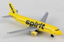 REALTOY RT3874 SPIRIT AIRLINES AIRBUS A320 (5 WINGSPAN) (DIE CAST)