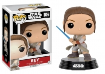 FUNKO 9618 POP! STAR WARS: EP7 - REY (W/ LIGHTSABER) JEDI