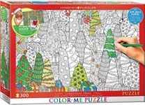 EUROGRAPHICS 6033-0886 COLOR ME -CHRISTMAS TRESS PUZZLE 300 PIEZAS