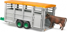 BRUDER 02227 LIVESTOCK TRAILER WITH 1 COW