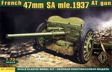 ACE 72529 FRENCH 47MM ANTI TANK 1937 HOTCHKISS CAÑON 1:72