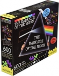 AQUARIUS 75004 PINK FLOYD DARK SIDE 600 PC 2-SIDED SHAPED PUZZLE VDGS