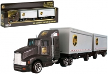 REALTOY RT4345 1:87 UPS TRACTOR W/2 TRAILERS (DIE CAST)
