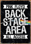 AQUARIUS 30094 PINK FLOYD BACKSTAGE TIN SIGN