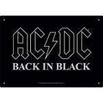 AQUARIUS 30143 AC/DC BACK IN BLACK TIN SIGN