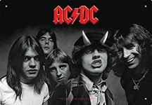 AQUARIUS 30144 AC/DC HIGHWAY TO HELL TIN SIGN