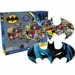 AQUARIUS 75003 DC COMICS BATMAN 600 PC 2-SIDED SHAPED PUZZLE VDGS