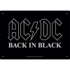 AQUARIUS 30143 AC-DC BACK IN BLACK TIN SIGN